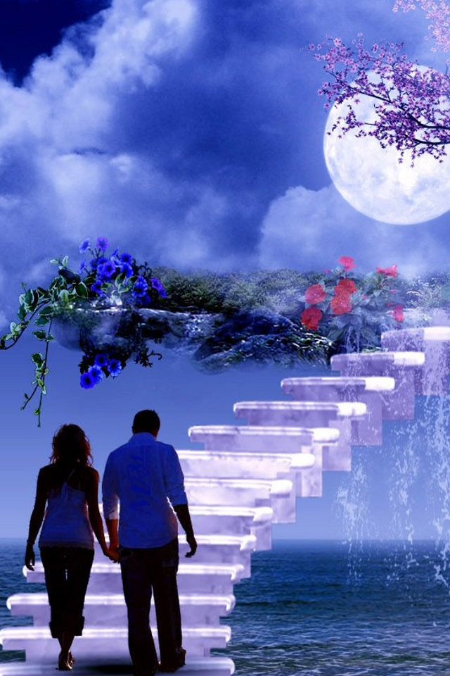cute Love couple Hd Wallpaper For Mobile : Free Mobile Wallpaper Download Free Wallpaper: AT & T iphone 4 mobiles, cute couple wallpapers ...