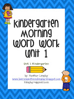 https://www.teacherspayteachers.com/Product/Kindergarten-Morning-Word-Work-Unit-1-1173277