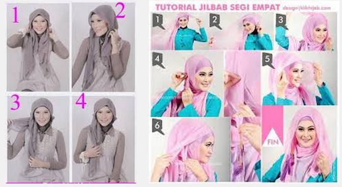 Cara memakai jilbab paris untuk wajah bulat dan pipi