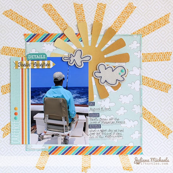 Feelin' Carefree layout by Juliana Michaels