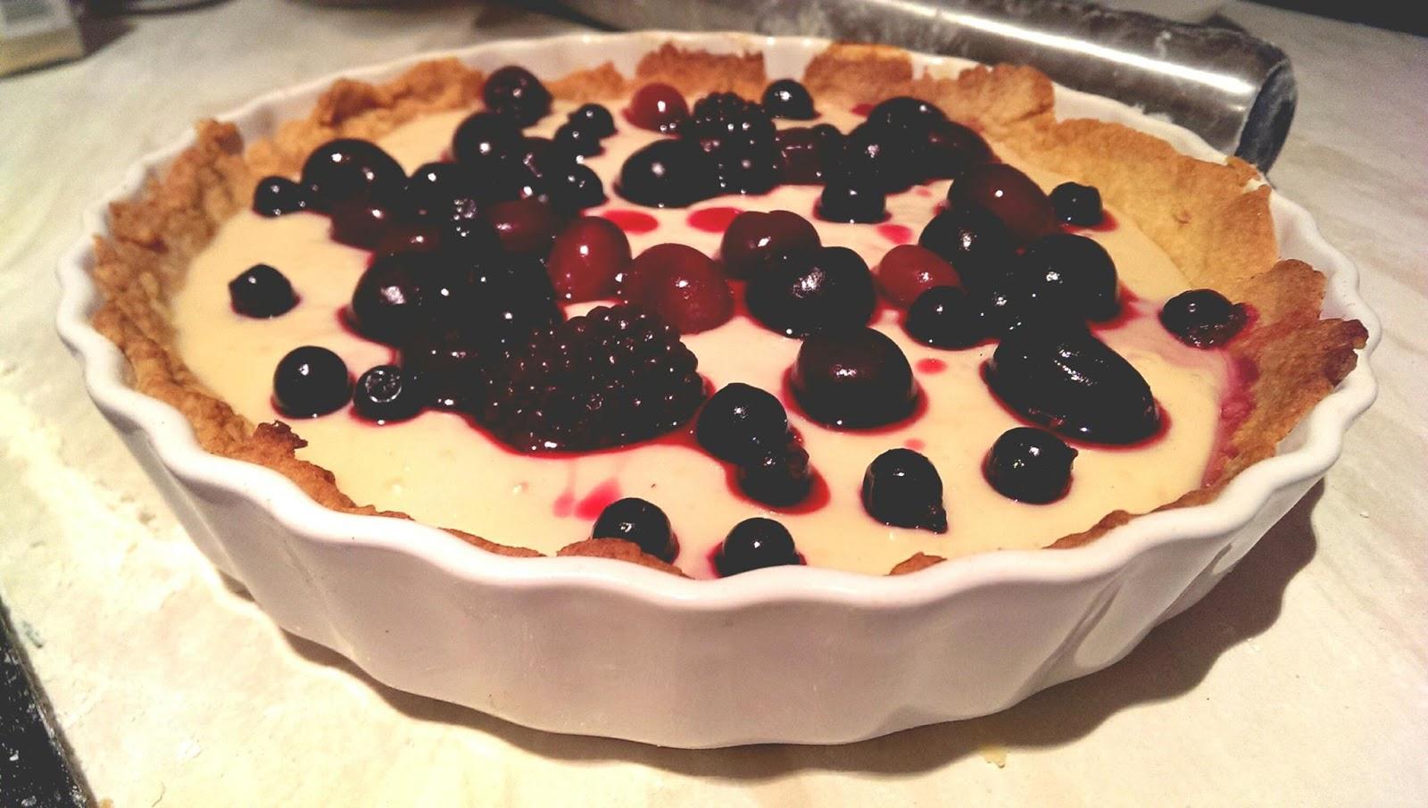 Confectioner's Custard & Forest Fruit Flan Recipe
