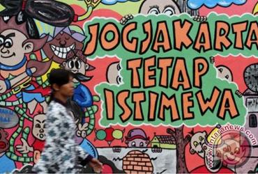 mural di salah satu dinding kota Yogyakarta