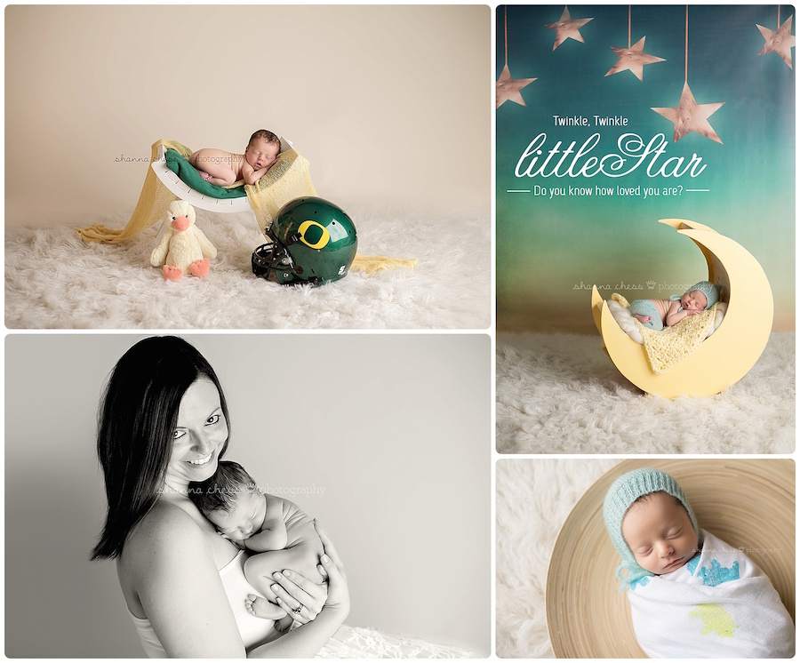 eugene springfield oregon newborn photographer Ducks moon