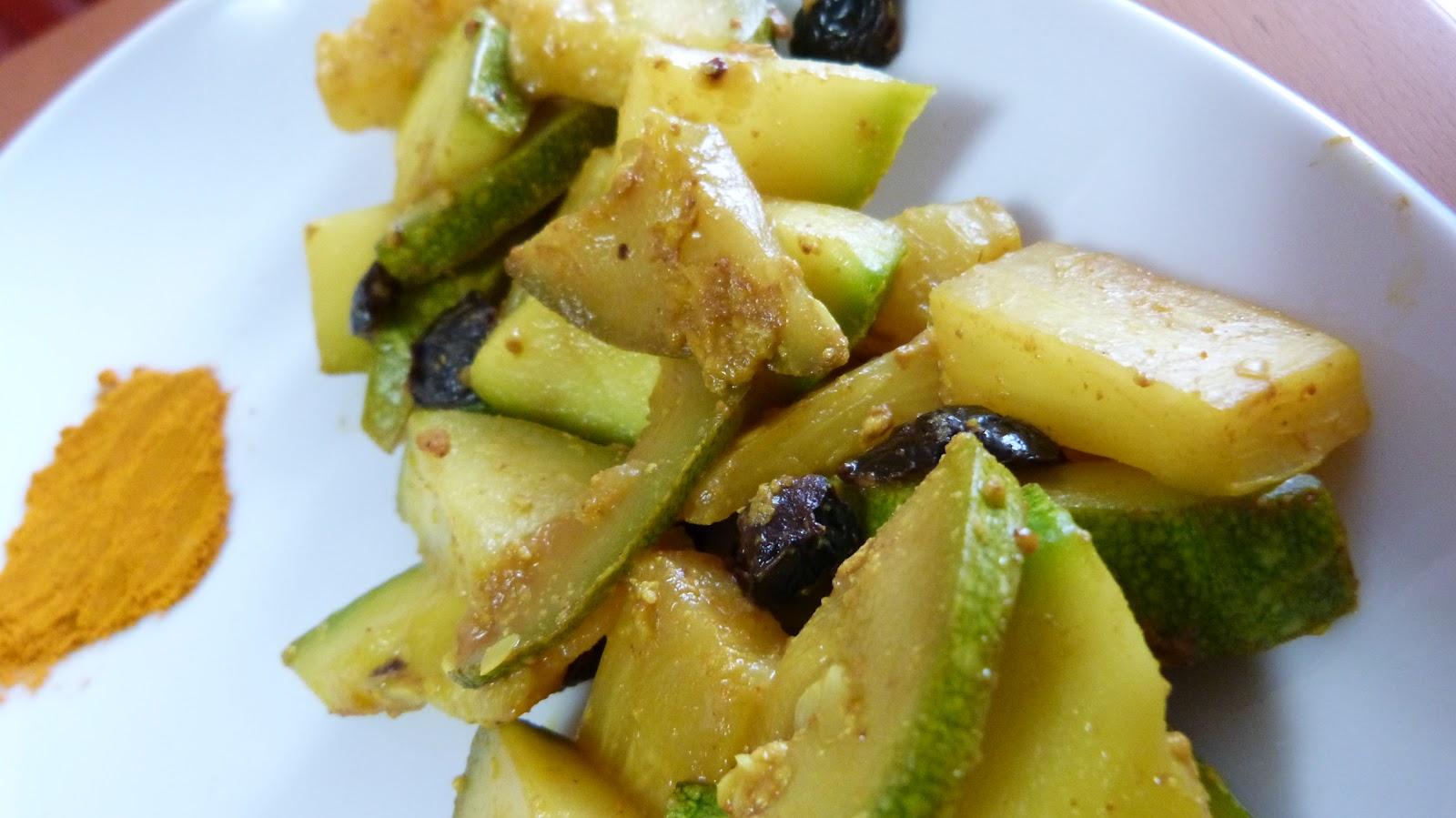Zucchine tonde e ananas alla kurkuma da il rifugio di zia for Cucinare zucchine tonde