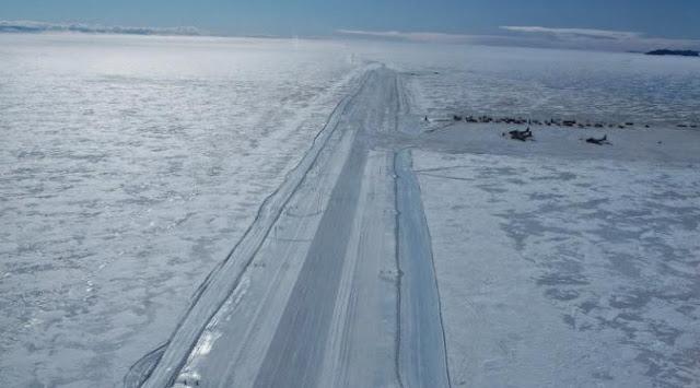 Ice Runway Antartica