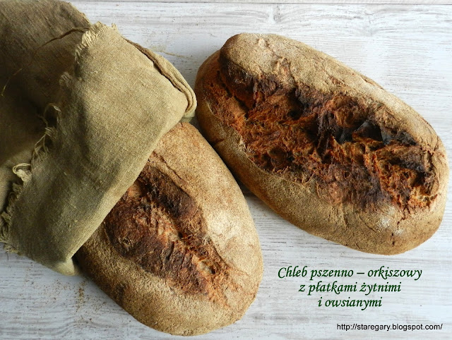 Chleb pszenno – orkiszowy z płatkami żytnimi i owsianymi - grudniowa piekarnia