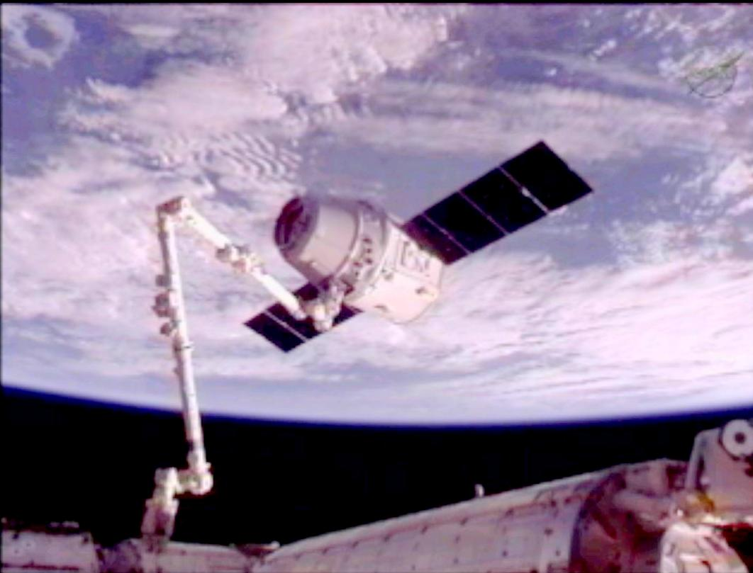 Dragon Berthed to Space Station