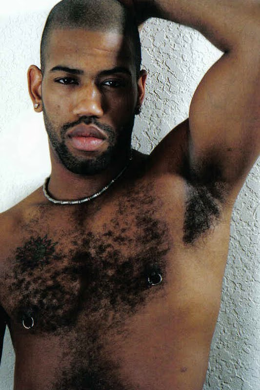 hairy men naked black