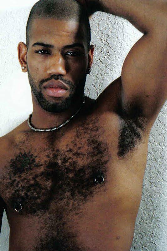 hairy naked men Black