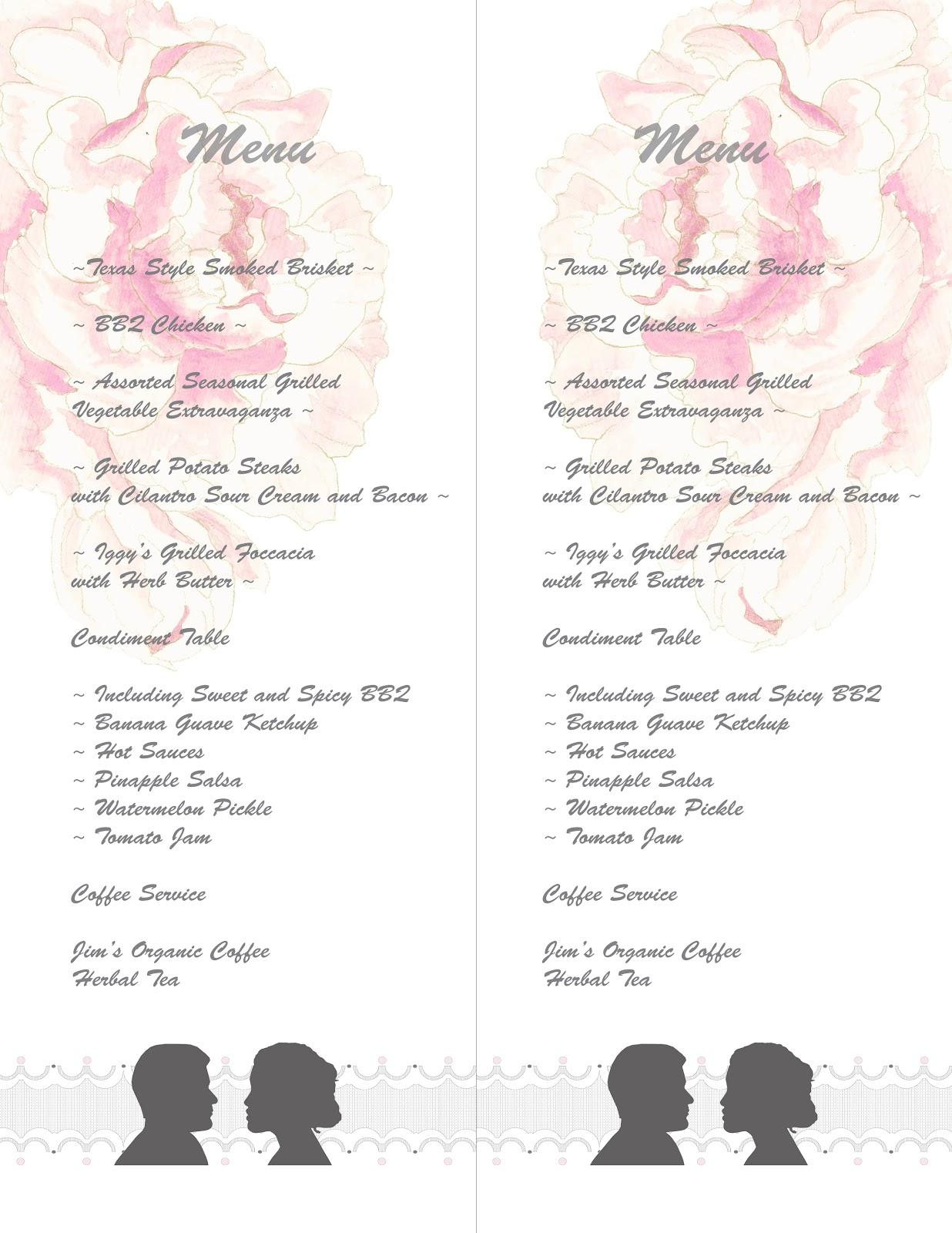 DSMeeBee DIY Ostrich Feather Embellished Wedding Menus