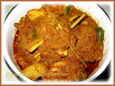 Malacca Portuguese Debel (Devil) Curry dish