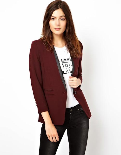 burgundy blazer