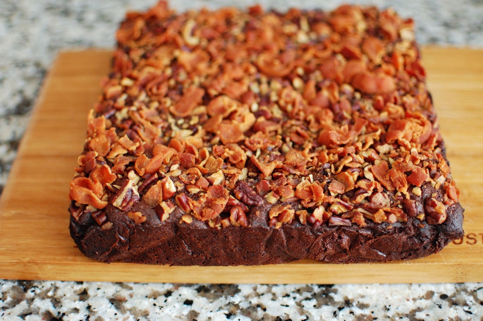 Bacon Bourbon Brownies | Beantown Baker