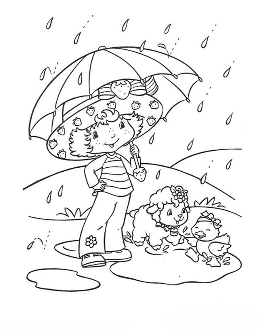 cartoon design strawberry shortcake coloring pages