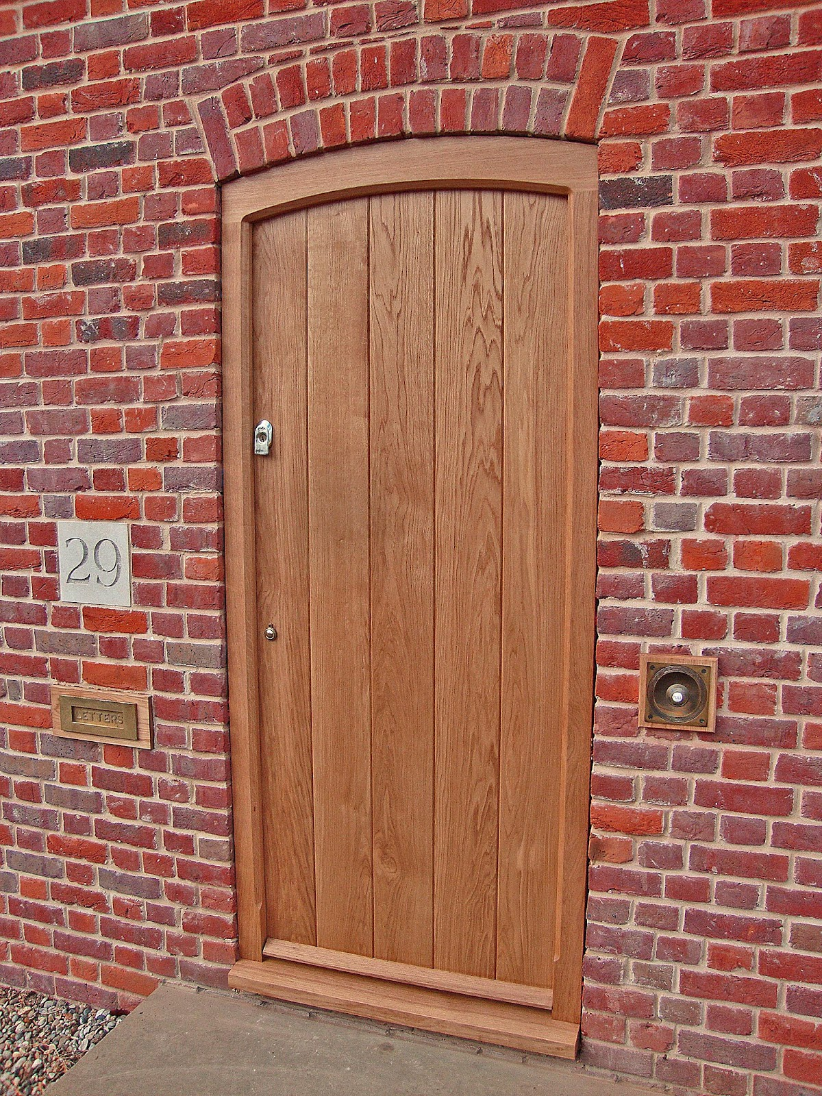 Oak front door finished mark rhodes for Oak front doors