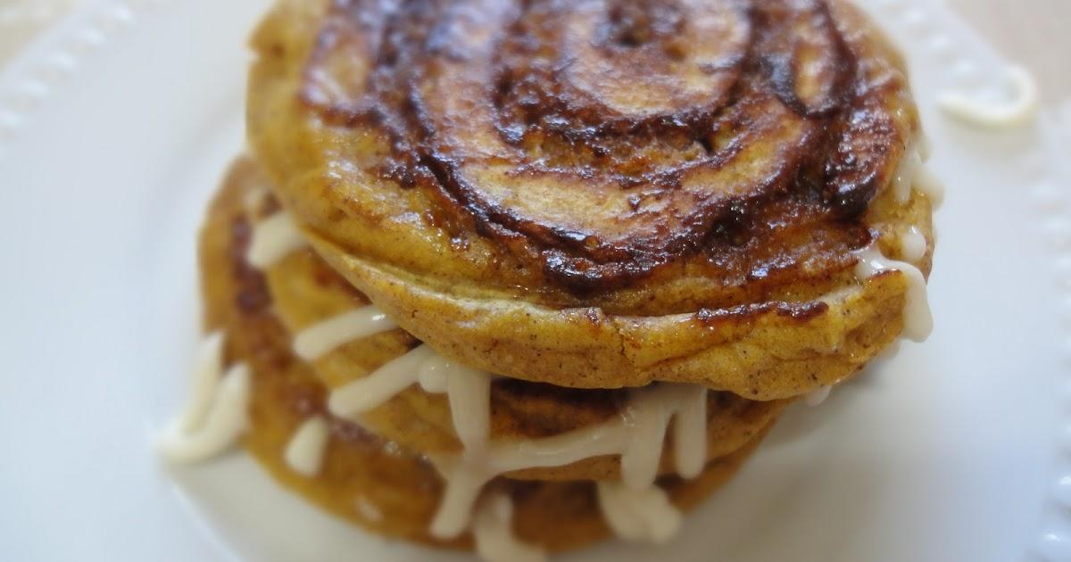 Blog as you Bake: Pumpkin Cinnamon Roll Pancakes