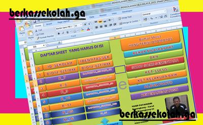 Aplikasi Pengeloaan Nilai Kelas 6 Versi Microsoft Excel Terbaru