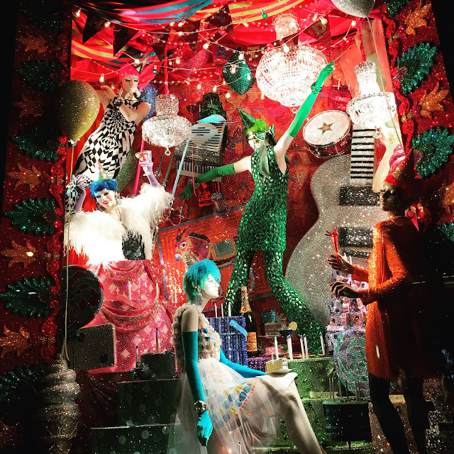 Bergdorf Goodman's Brilliant 2015 holiday windows with over 7 million Swarovski crystals