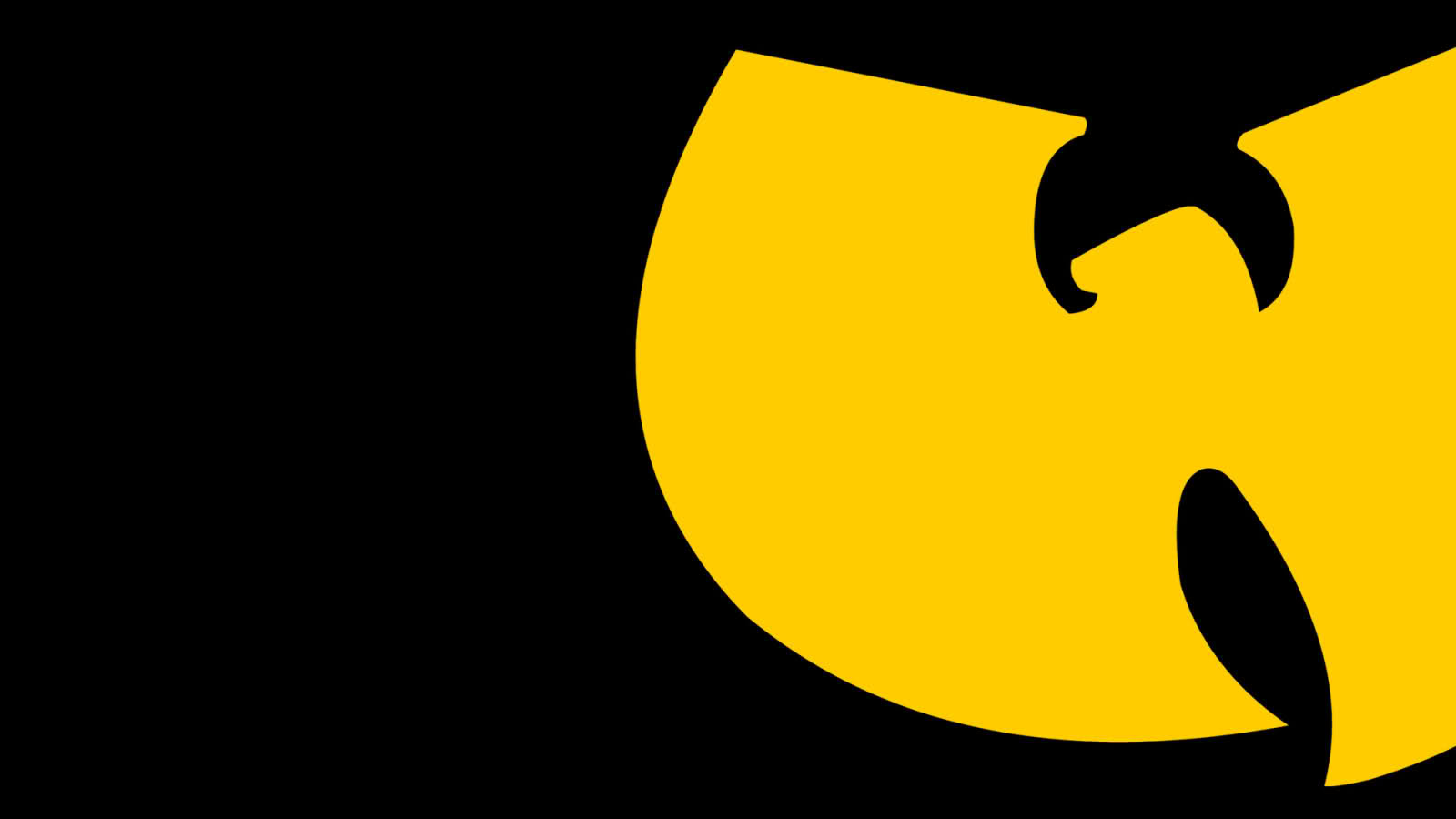 wallpaper a day wu tang clan yellow logo wallpaper
