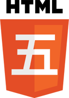 HTML5 Logo with character for Chinese number 5.