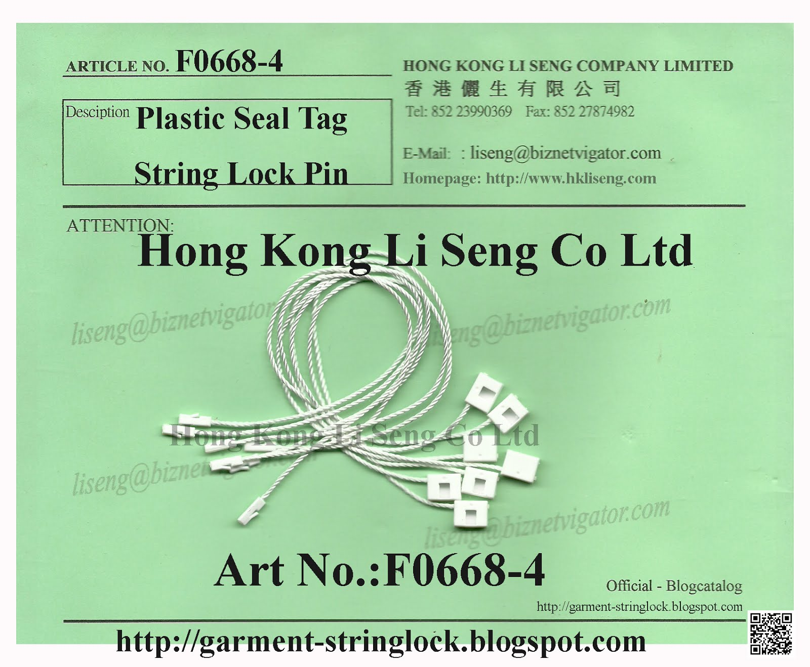 Plastic Hang Tag String Lock Pin Factory Wholesaler and Supplier