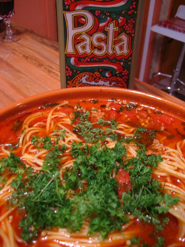 Spaghetti la tunisienne en tajine recette - Cuisine tunisienne tajine ...