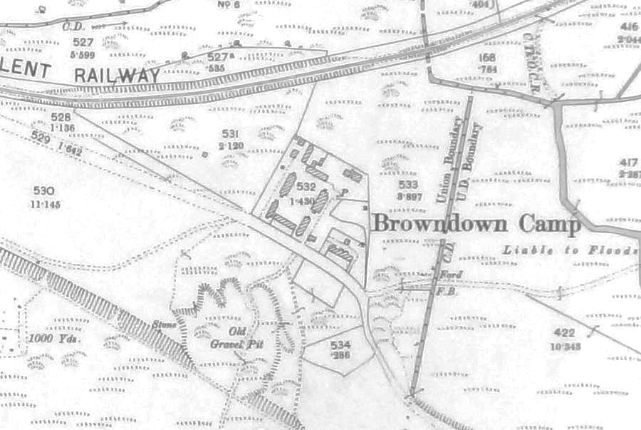 Plan of Browndown showing Lee Line
