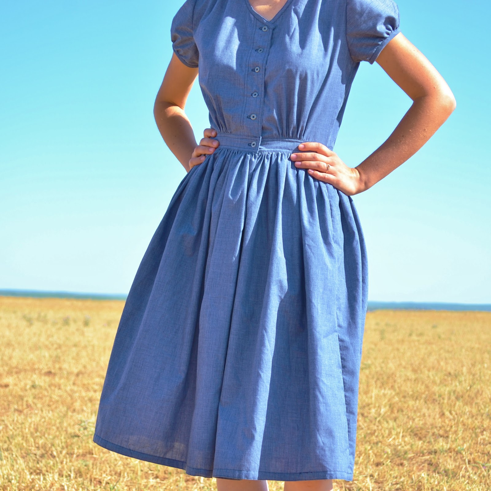 the story of a seamstress 40s inspired house dress