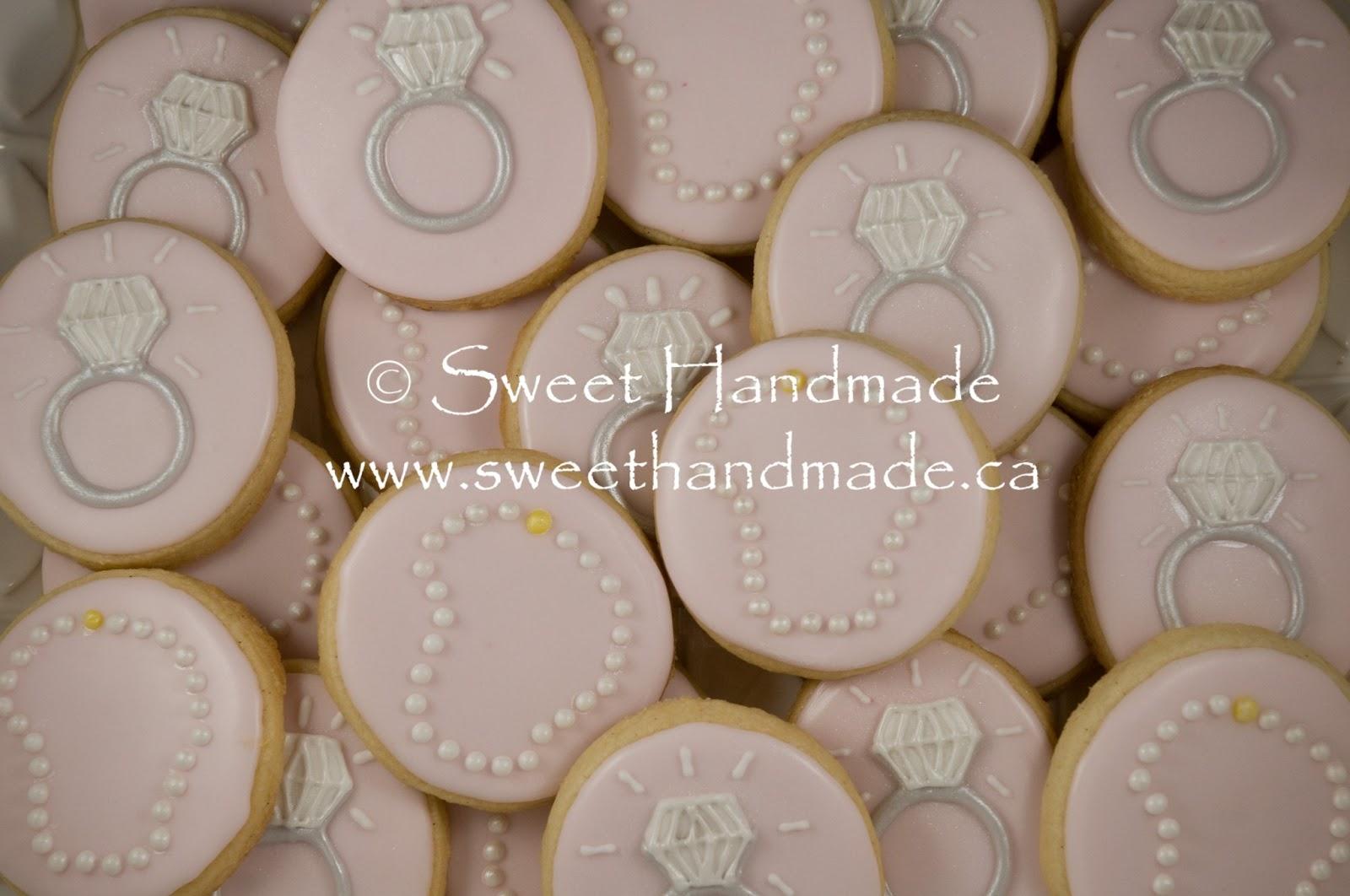 sweet handmade cookies bridal shower cookies diamonds and pearls