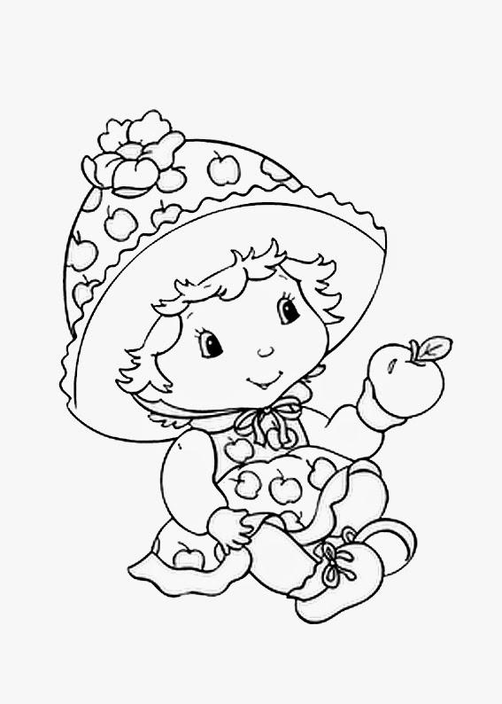 desenhos para colorir e imprimir da moranguinho
