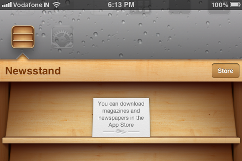 iphone newsstand landscape mode