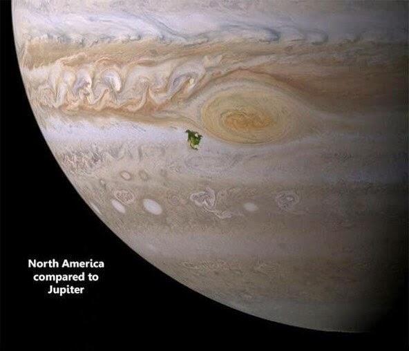 North America on Jupiter