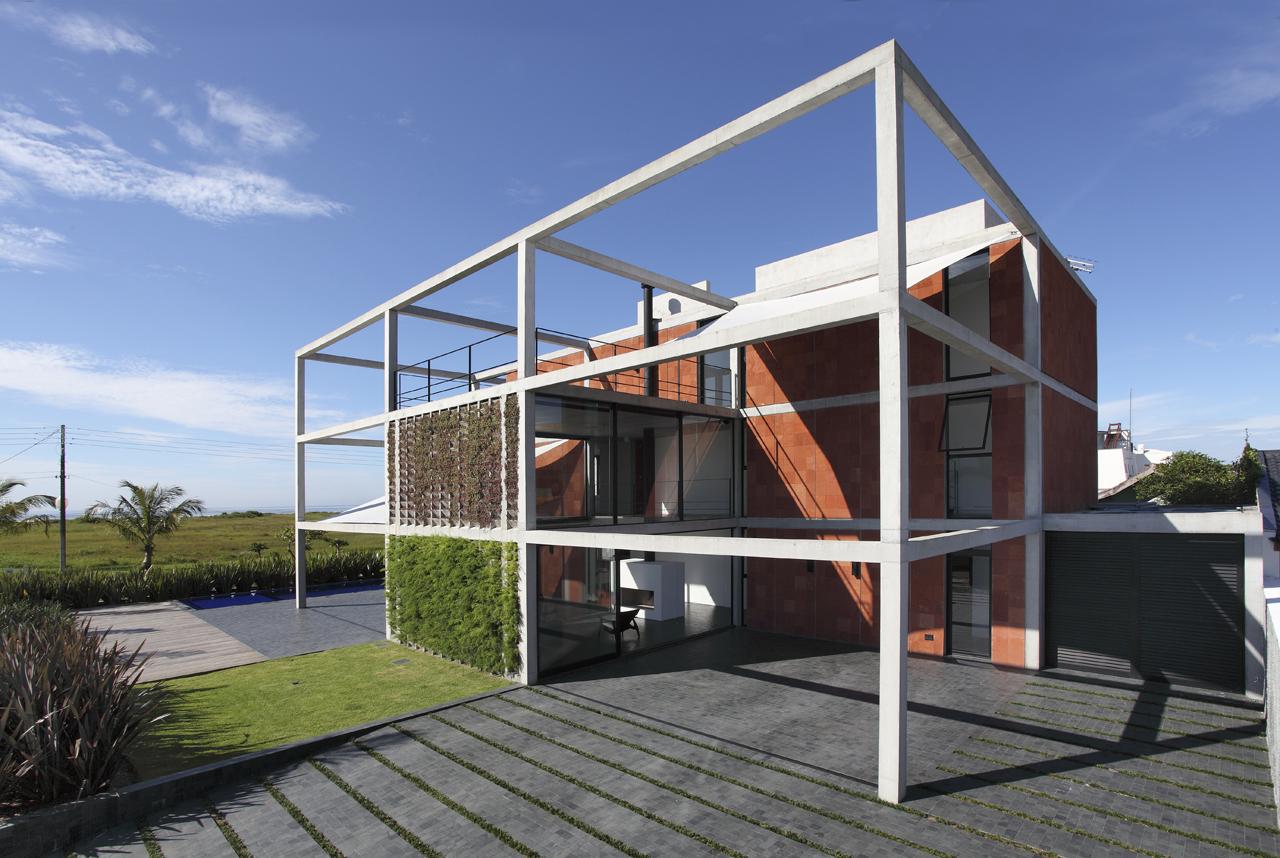 Anatomia arquitet nica casa atami arquitetura marcos - Estructuras de acero para casas ...