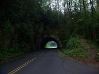 Tunnel on the road to Cades Cove