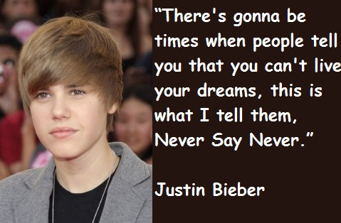 justin bieber quotes and sayings quotesgram