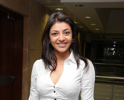 Kajal Agarwal Hot Boobs Cleavage in White Tops