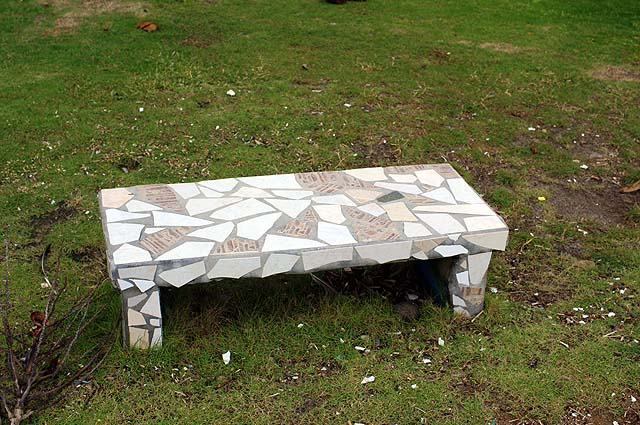 House Building Ideas Concrete Garden Bench