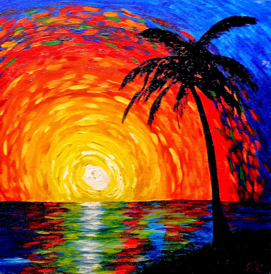 Art: Palette Knife Painting From A Blind