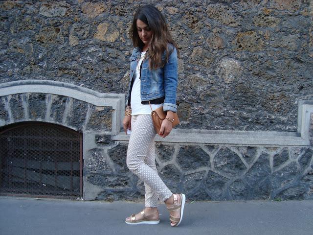outfit pantaloni pois, blogger stylegram