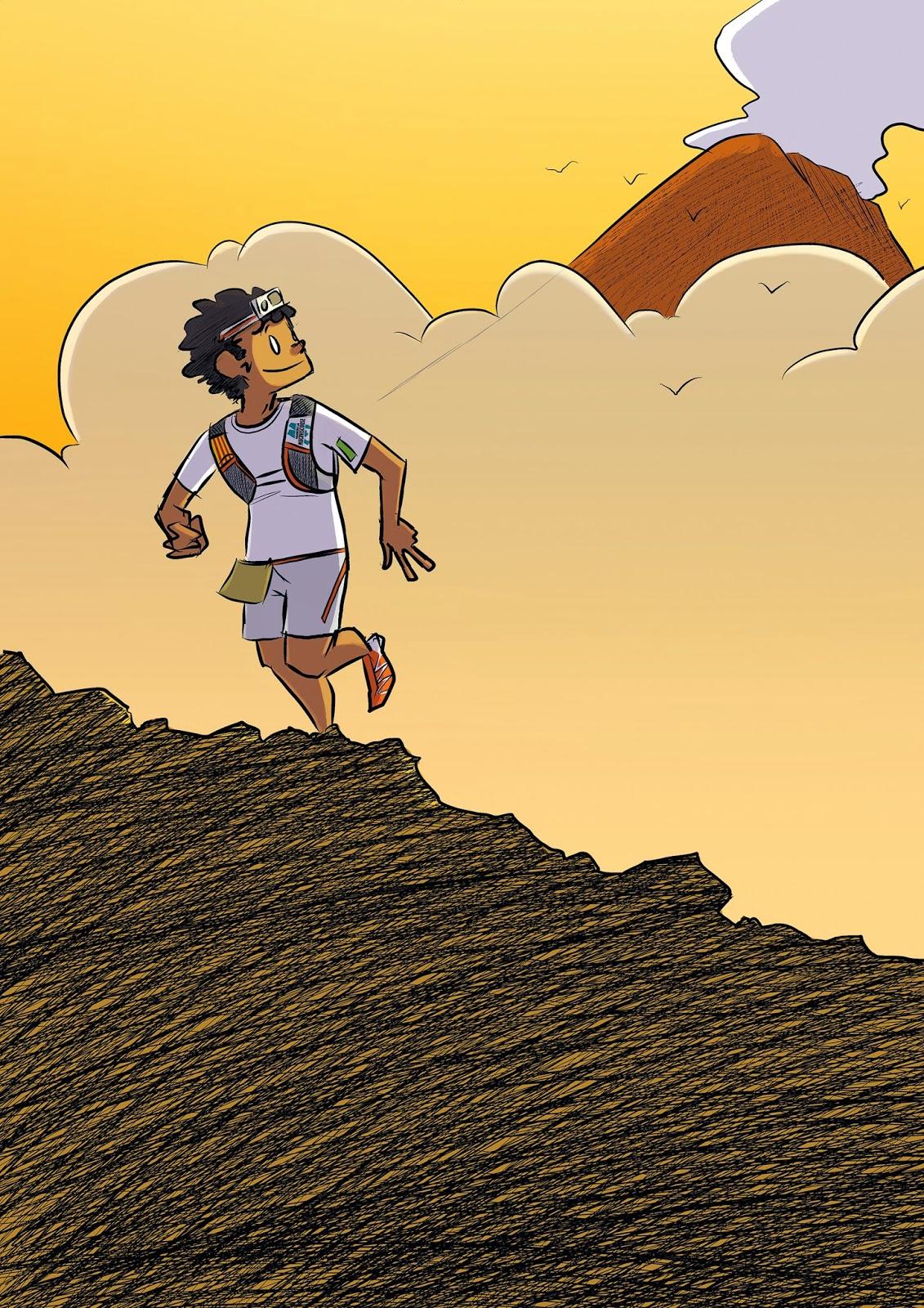 Mat running field des bosses et des bulles le trail en dessin - Coureur dessin ...