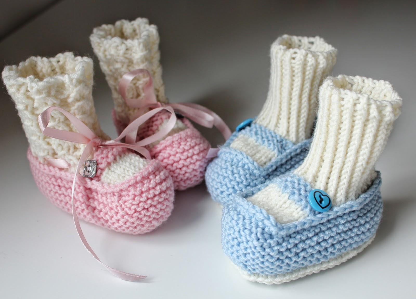 Strikka Babybooties - Jente og Gutt