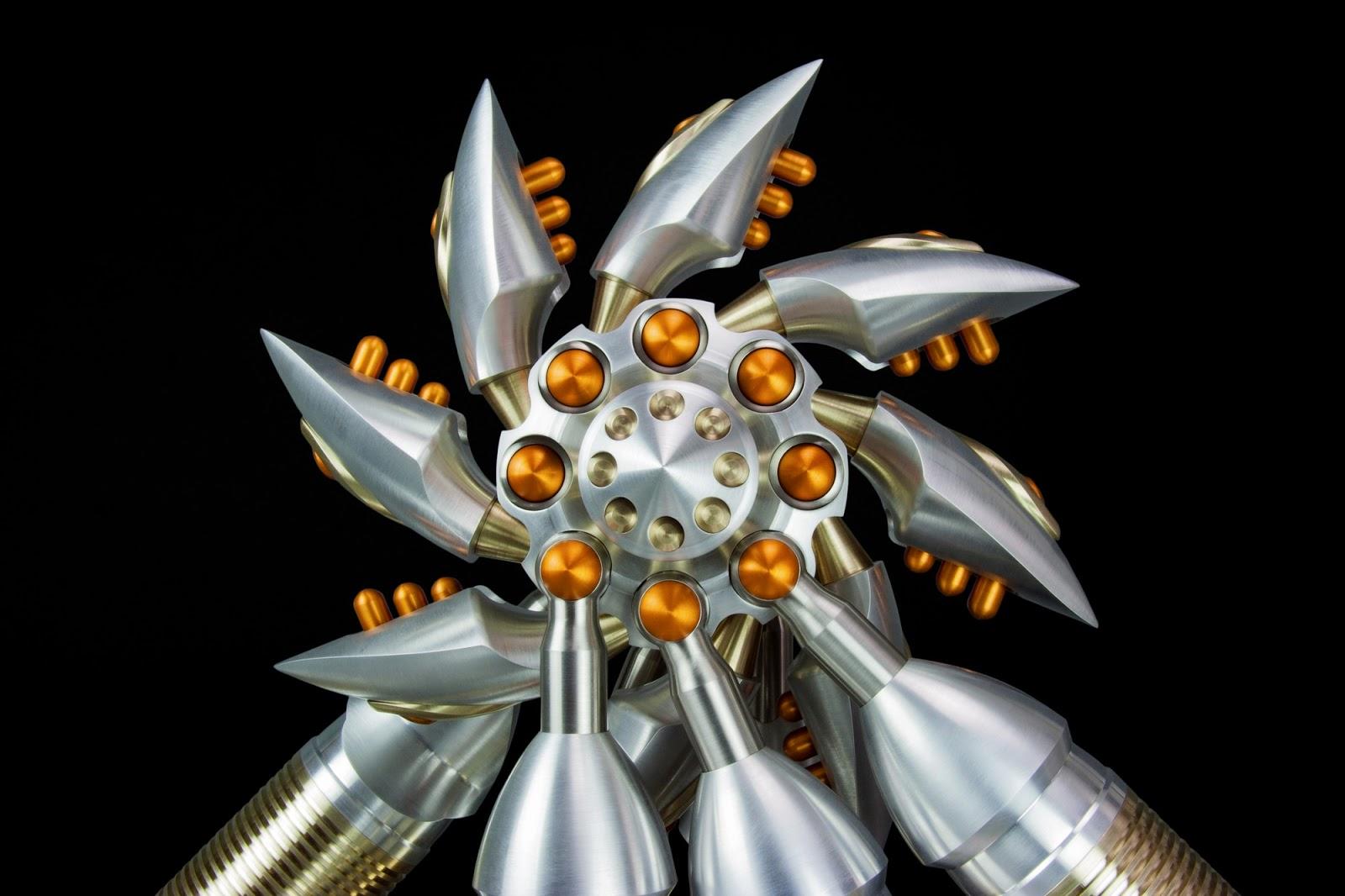 Machine Art, Machined Metal Sculpture, metal Art