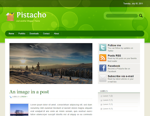 Pistacho Blogger Theme