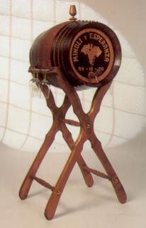 tonel barril con piel de 16 litros