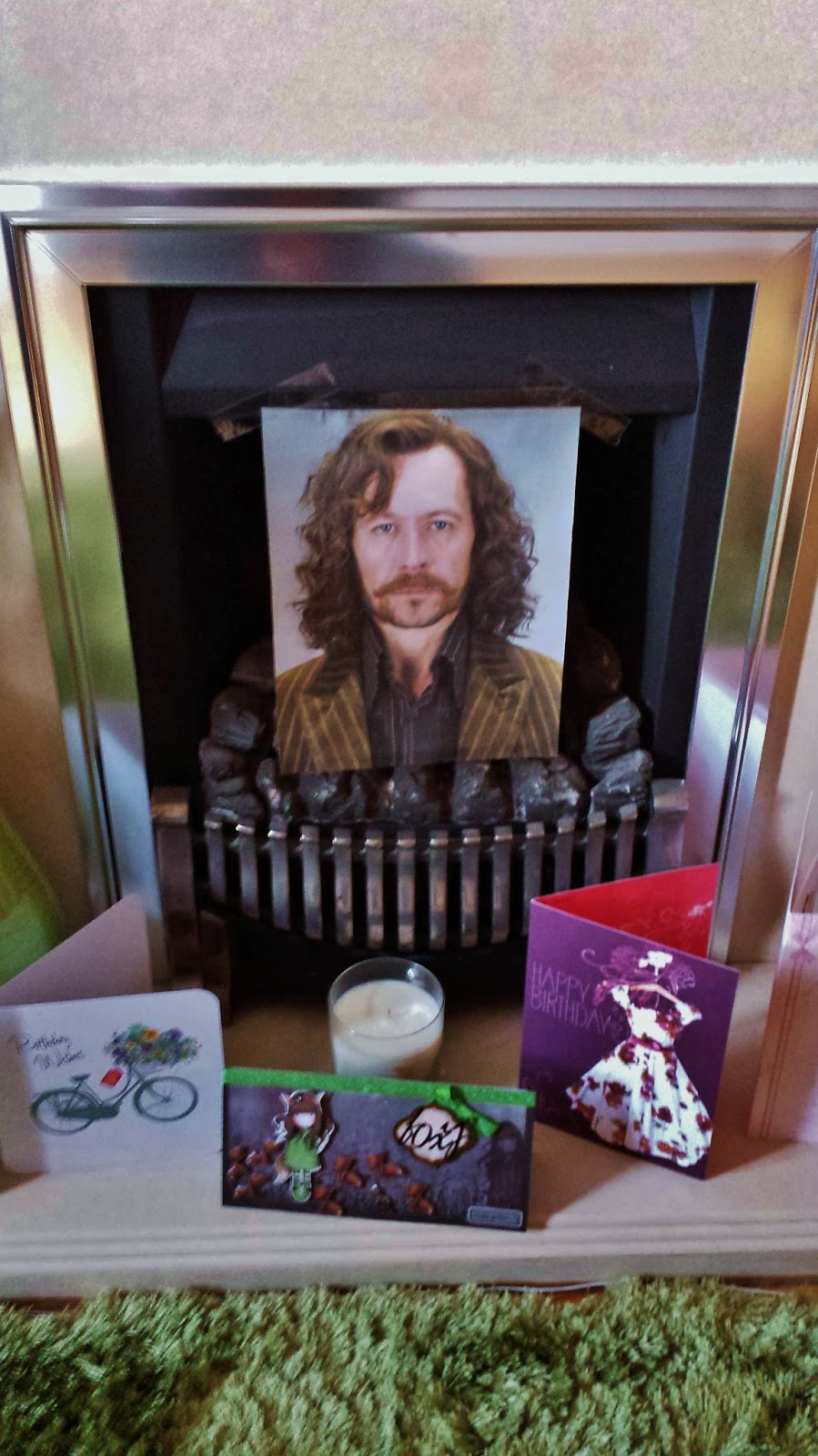 Sirius Black in Fireplace