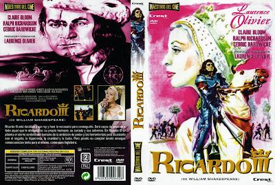 Carátula dvd: Ricardo III (1955) Richard III