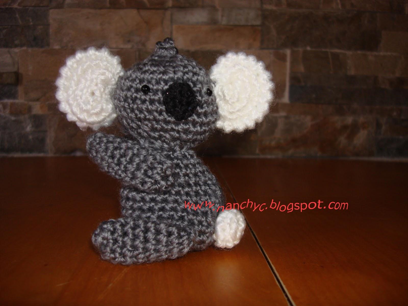 Llavero Koala Amigurumi : Amigurumis Manualidades Nanchyc