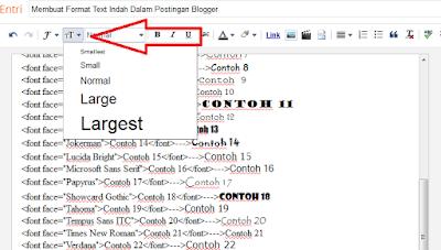 Membuat Format Text Indah Dalam Postingan Blogger