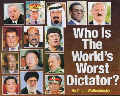absolute leaders and modern day dictators Chairman mao zedong was one of the world's absolute worst leaders  that he  wormed his way into one of the worst dictatorships the modern world has seen.