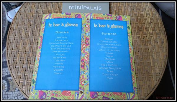 Bar à glaces du MINIPALAIS, restaurant Grand Palais Paris